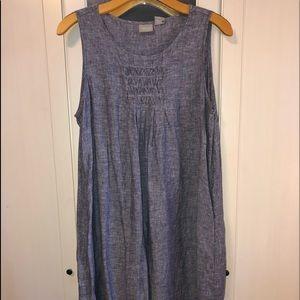 Linen summer dress, wore once. Denim-like linen.